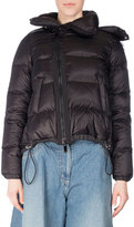 Sacai Fur-Trim Down Puffer Coat