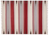 Pottery Barn Serape Stripe Synthetic Indoor/Outdoor Rug - Red