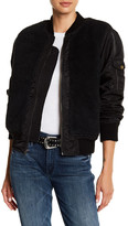 Mother Faux Shearling Aviator Jacket