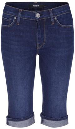 Hudson Amelia Mid-Rise Denim Bermuda Shorts