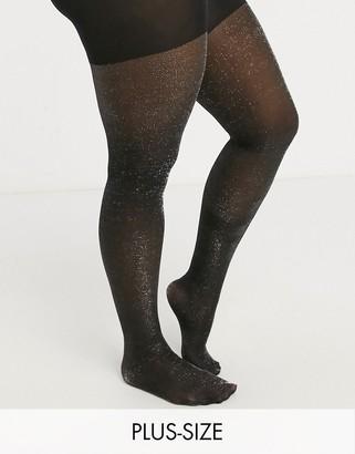 Gipsy Curve glitter sparkle tights in black