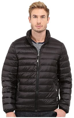 Tumi Patrol Packable Travel Puffer Jacket (Black) Men's Coat