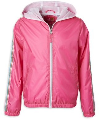 Pink Platinum Baby & Toddler Girls Rainbow Detail Windbreaker Jacket (Sizes 12M-4T)