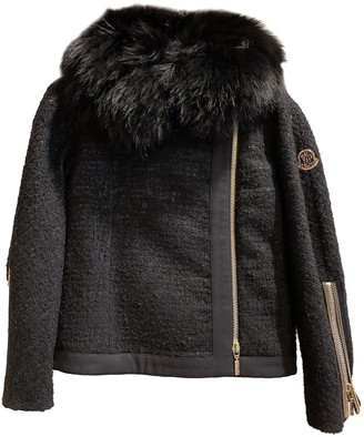 Moncler Gamme Rouge Black Wool Coat for Women