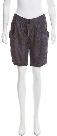 Baja East Abstract Mid-Rise Shorts
