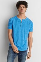 American Eagle Outfitters AE Flex Short Sleeve Henley