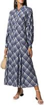 Rixo London 3/4-Sleeve Print Silk-Blend Dress