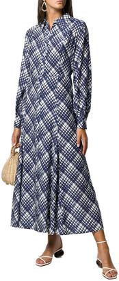 RIXO LONDON Rixo London 3/4-Sleeve Print Silk-Blend Dress