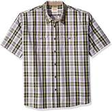 Wrangler Men's Big and Tall Authentics Short Sleeve Canvas Shirt