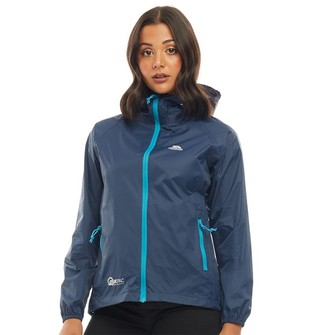 Trespass Womens Qikpac Waterproof Jacket Navy