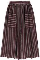 soeur Delhi Buttoned Stripe Skirt