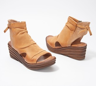 Miz Mooz Leather Wedges Sandals - Anna