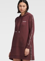 DKNY Logo Rib Hooded Sneaker Dress
