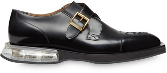 Fendi embroidered monk shoes