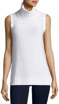 Neiman Marcus Sequined Cashmere Turtleneck Shell