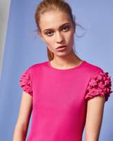 Ted Baker Floral applique sleeve Tshirt