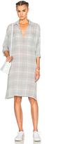 James Perse Plaid Oversize Shirt Dress