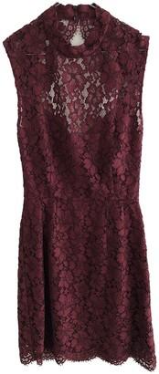 Sandro Burgundy Lace Dress for Women