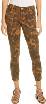 Joie Park Leaf Print Skinny Ankle Pants