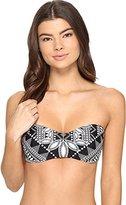 Jantzen Women's Dahlia's Garden Bandeau Bikini Top