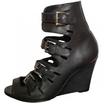 Surface to Air Black Leather Heels