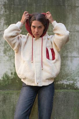 J.o.a. Colorblock Hooded Teddy Jacket