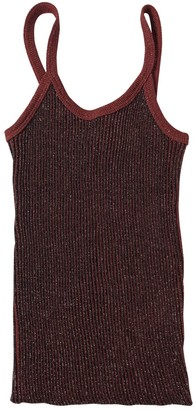 Jean Paul Gaultier Burgundy Wool Top for Women
