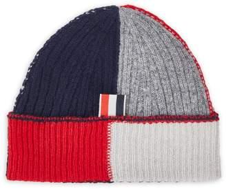 Thom Browne Rib-Knit Textured Wool Hat