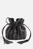 Topshop MIA Leather Chain Bucket Bag
