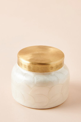 Capri Blue Mini Volcano Capiz Jar Candle By in White Size ALL