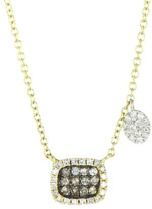 Meira T 14K Yellow Gold & Two-Tone Diamond Rectangular Pendant Necklace
