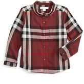 Burberry Boy's Mini Fred Check Woven Shirt