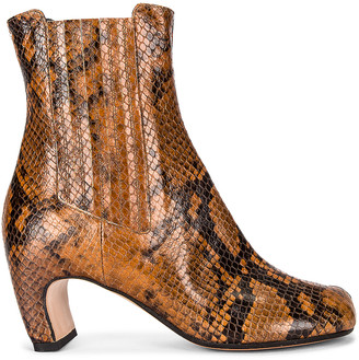 Maison Margiela Tabi Python Boots in Cognac & Black | FWRD