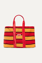 Solid & Striped The Thea Reversible Shell And Striped Cotton-blend Terry Tote - Red