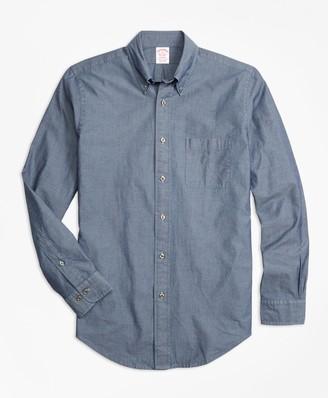 Brooks Brothers Madison Fit Indigo Chambray Sport Shirt