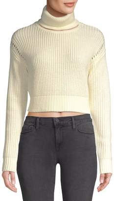 KENDALL + KYLIE Cotton Ribbed Turtleneck