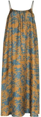 ASCENO Floral Napoli silk maxi dress