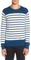 Tavik Men's 'Micra' Trim Fit Stripe Crewneck Sweater