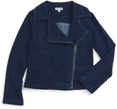 Splendid Girl's Knit Moto Jacket
