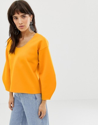 ASOS scoop neck scuba sweatshirt