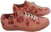 Converse Pink Leather Trainers