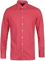 Hackett Brompton Red Dyed Slim Fit Oxford Shirt