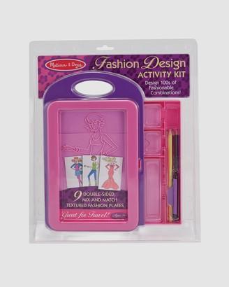 Melissa & Doug Pink Activity Kits - Fashion Design Activity Kit - Size One Size at The Iconic