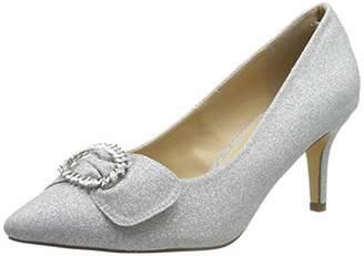 Paradox London Pink Women's Lena Closed Toe Heels, (Silver 40), 7 EU