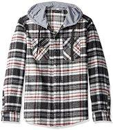Burnside Men's Carlton Cotton Plaid Flannel Hooded Jacket