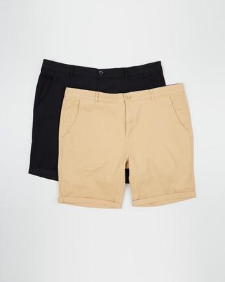 Staple Superior Big & Tall Staple Big & Tall Chino Shorts 2-Pack