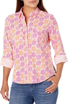 Foxcroft Women's Zoey Petite Wrinkle-Free Citrus Shirt