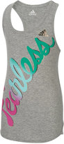 adidas Super Fast Graphic-Print Tank Top, Toddler & Little Girls (2T-6X), and Big Girls (7-16)
