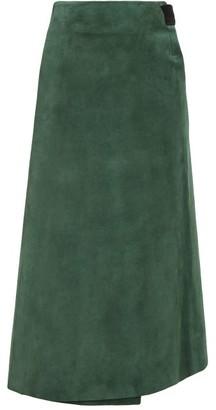 ALBUS LUMEN Lima Suede Wrap Skirt - Green