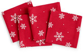 The Cellar Snowflake Collection Set of 4 Cocktail Napkins